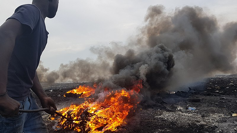 Agbogbloshie landfill in Ghana