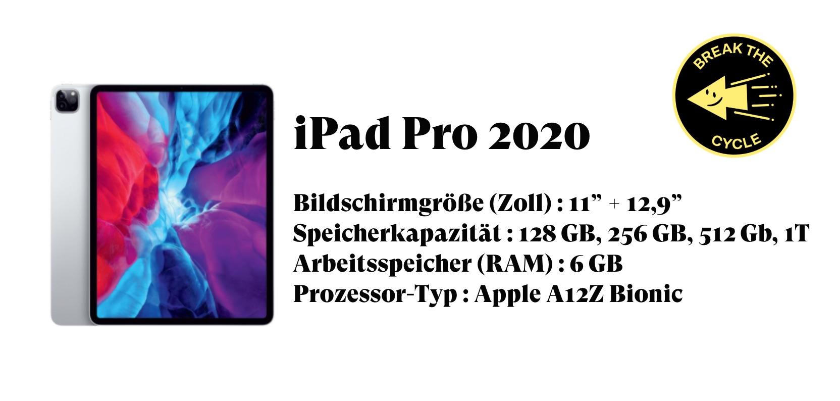 iPad Pro 2020 technische details