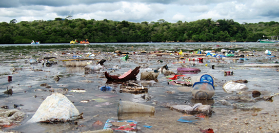 plastic waste littering Pejarakan beaches