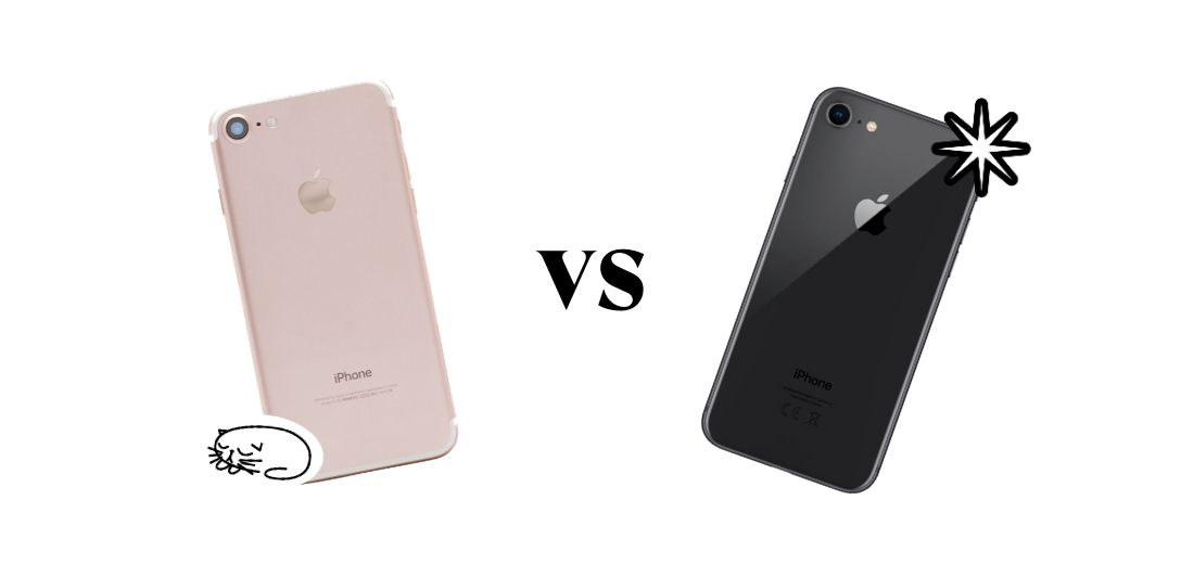 comparatif iphone 7 et 8