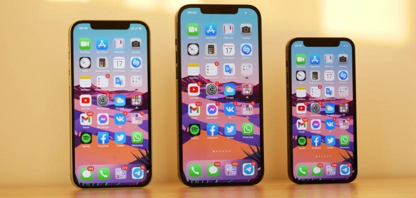 comparaison iphone 12 12 pro 12 pro max et 12 mini