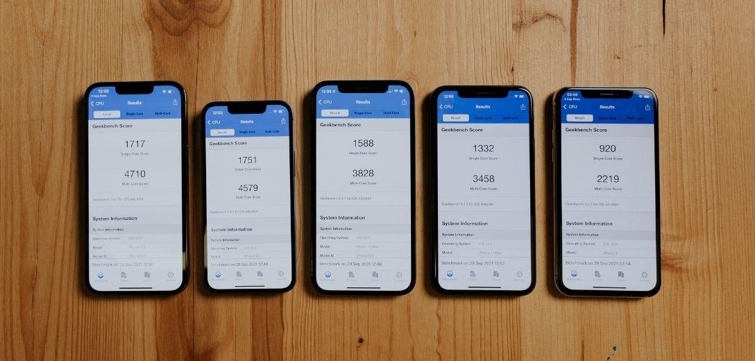 comparación entre iPhone 11, iPhone 12 y iPhone 13