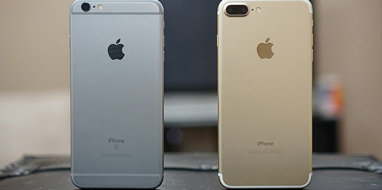 iphone 7 plus a iphone 6s plus