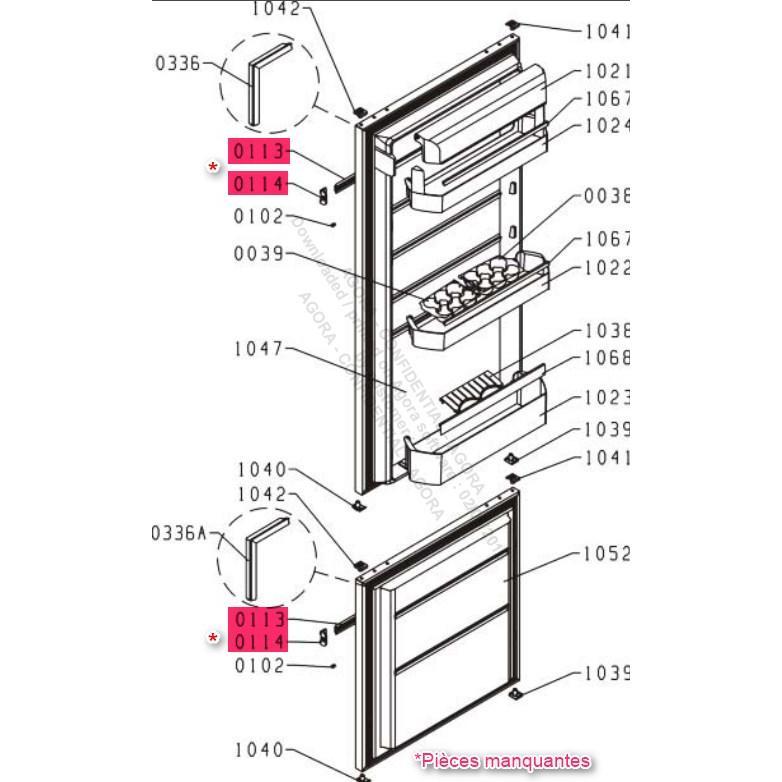 Réfrigérateur encastrable - De Dietrich - DRS1521J