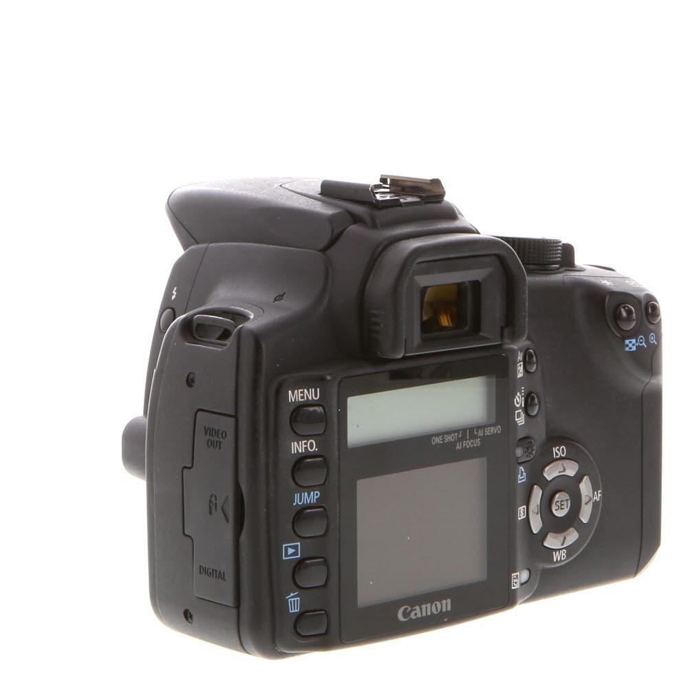 Reflex Canon EOS 350D Vain Keho - Musta