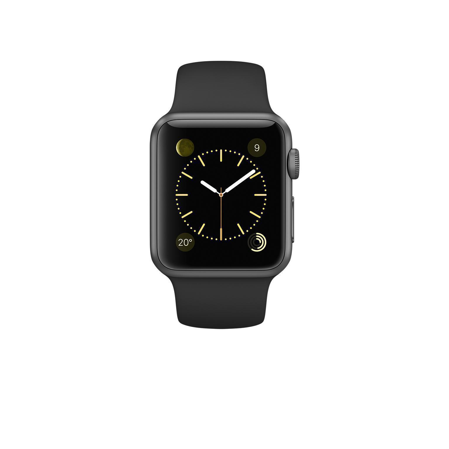 Apple Watch (Series 1) GPS 38 mm - Aluminium Gris sidéral - Bracelet Sport Noir