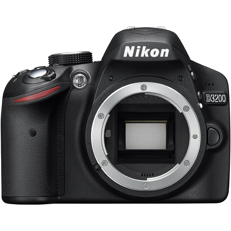 Reflexkamera - Nikon D3200 - Schwarz + AF-S DX NIKKON 18-55 mm Objektiv