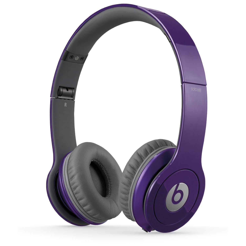 Slúchadlá Beats By Dr. Dre Beats Solo HD Potláčanie hluku Bluetooth Mikrofón - Fialová
