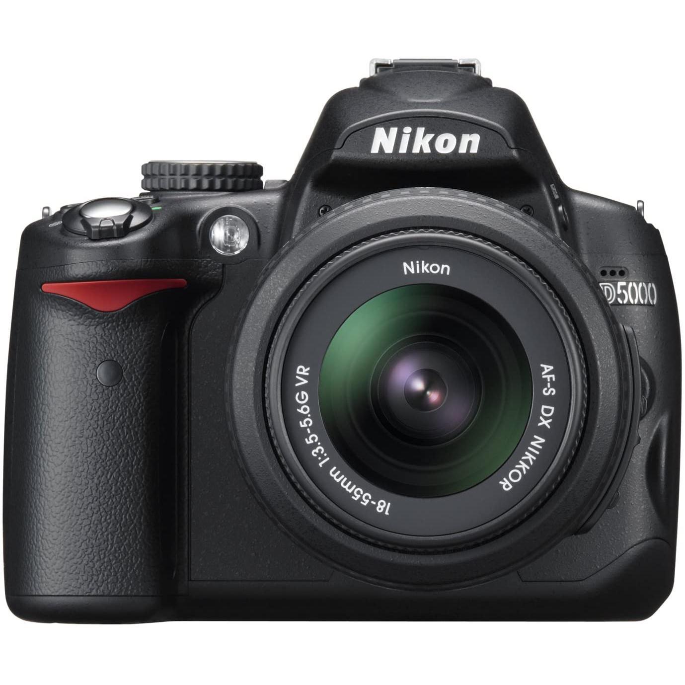 Reflex - Nikon D5000 - Noir + Objectif Nikon AF-S DX VR 18 - 55 mm f/3.5 - 5.6 G