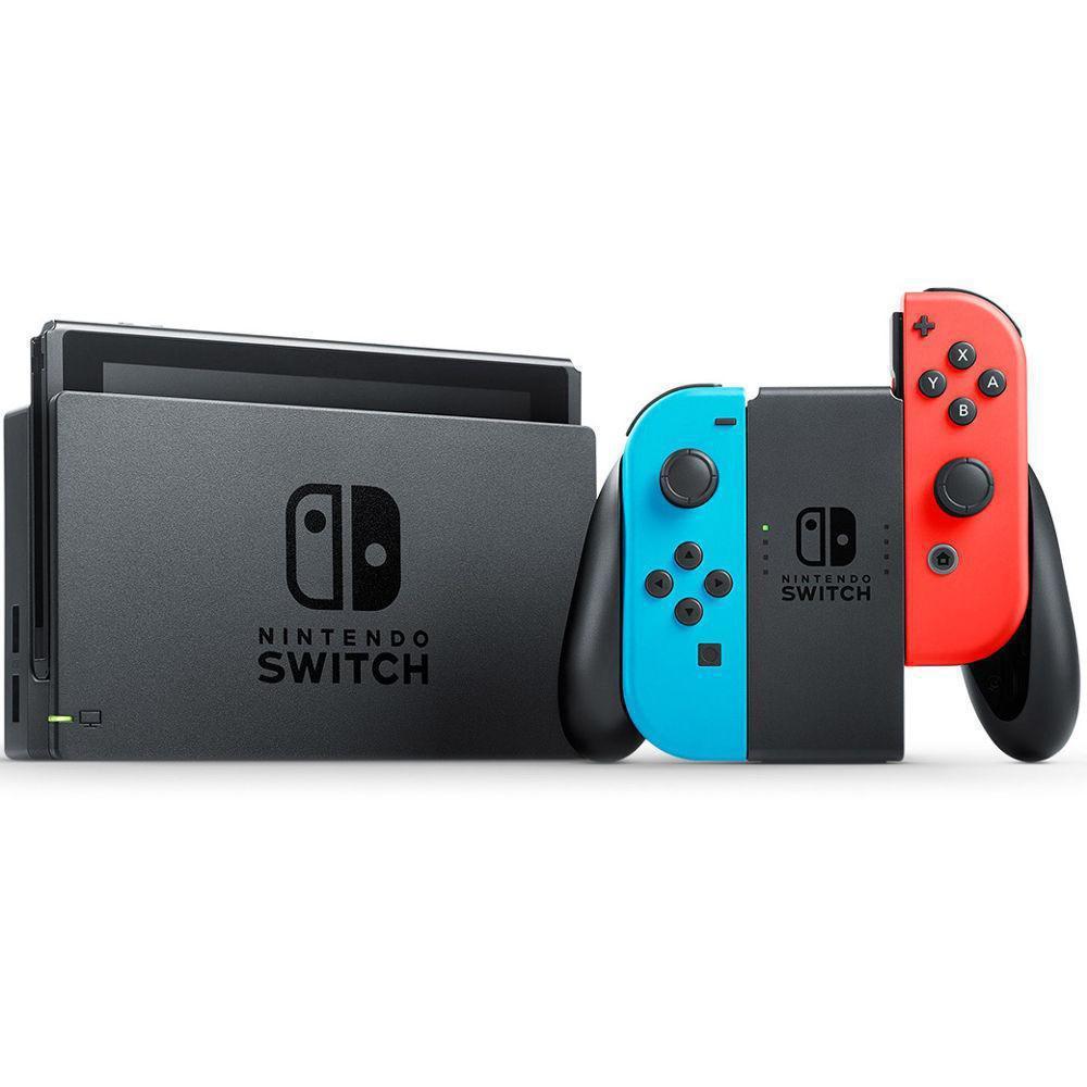Nintendo Switch - HDD 32 GB - Modrá/Červená