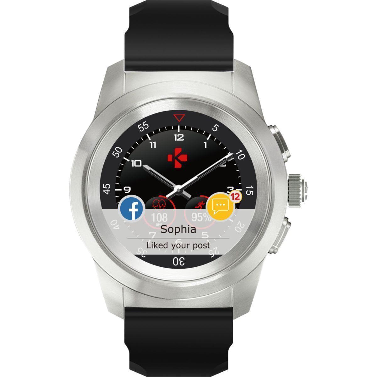 Smart hodinky Mykronoz ZeTime á Nie - Strieborná