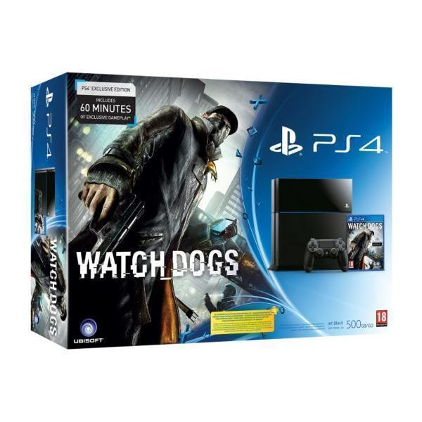 Pack - Sony PS4 500 Go + Watch Dogs - Noir