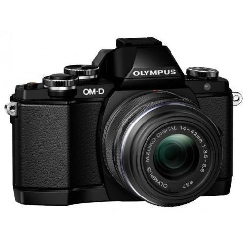 Hybrid-Kamera Olympus E-M10 OM-D - Schwarz + Objektiv Olympus M.Zuiko Digital 14-42mm 1:3.5-5.6 II R