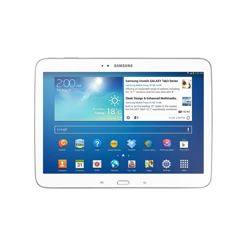 """Samsung Galaxy Tab 3 10"""" 16 Go 4G - Blanc - Débloqué"""