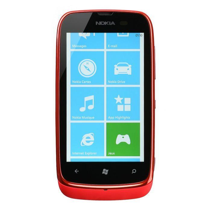 Nokia Lumia 610 8 Go - Rouge - SFR
