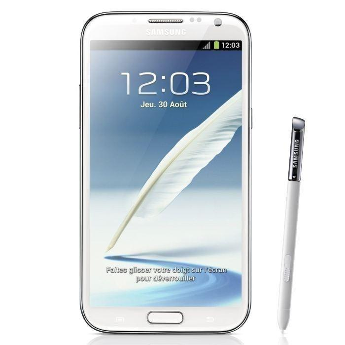 Samsung Galaxy Note 2 16 Go N7105 4G - Blanc - Orange