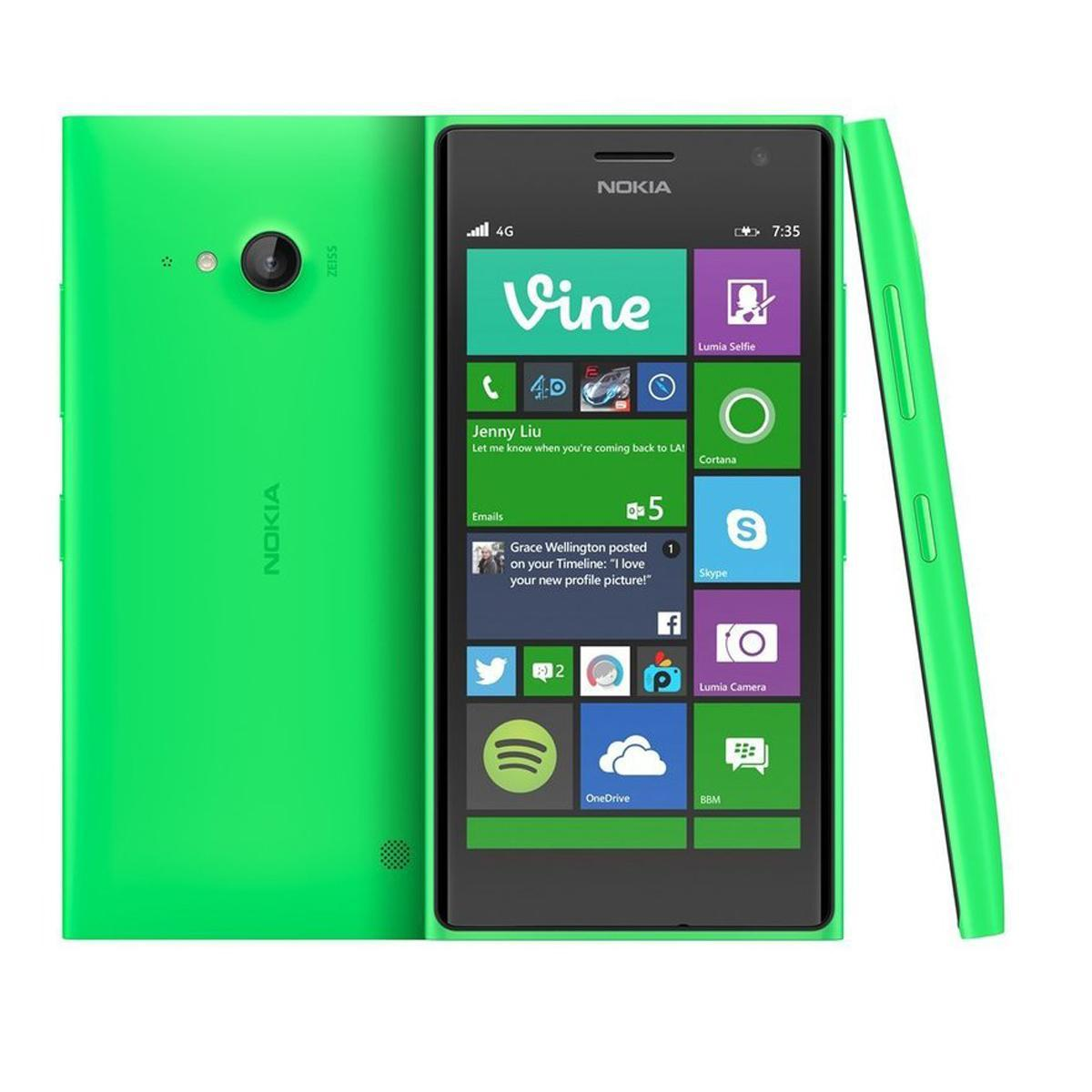 Nokia Lumia 730 Dual-Sim 16 Go Vert Débloqué