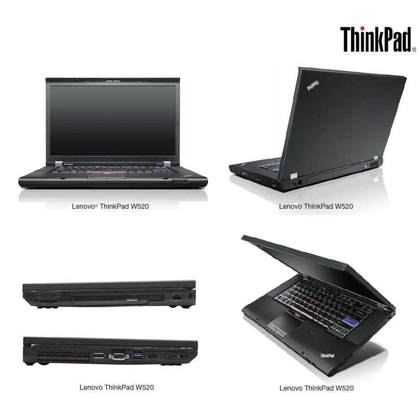 Lenovo Thinkpad W520 - Intel Core i7 2.7  GHz - SSD 250 Go - RAM 8 Go Go - AZERTY