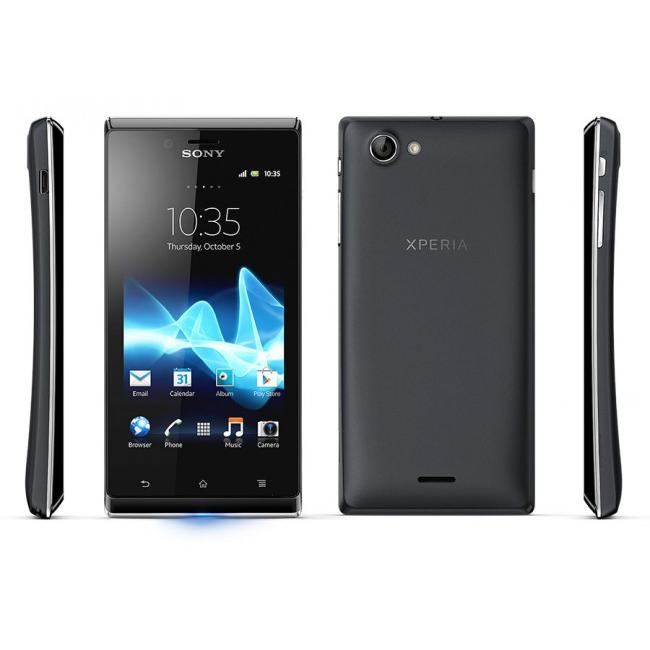 Sony Xperia J - Noir - Débloqué