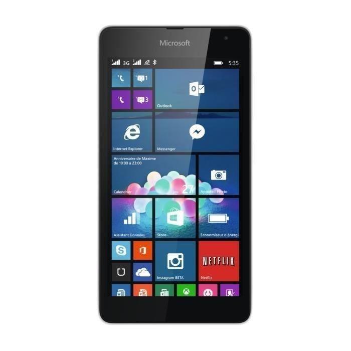 Microsoft Lumia 535 - Blanc - Débloqué