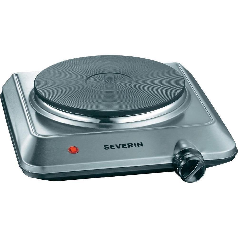 Severin - KP1092 - Plaque de cuisson en acier inoxydable brossé