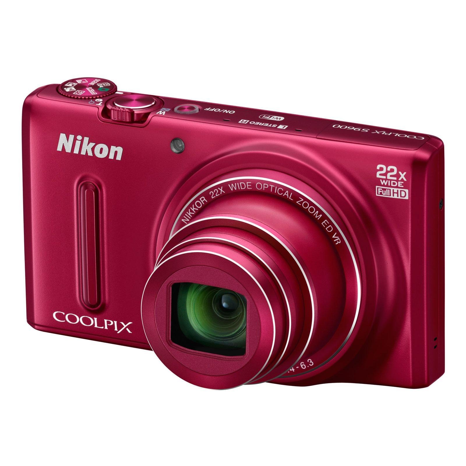 NIKON COOLPIX S9600 ROUGE