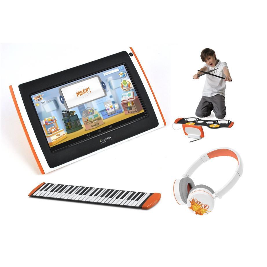 Tablette pour enfant Meepx2 Rose, Pack DJ (piano, batterie, casque)