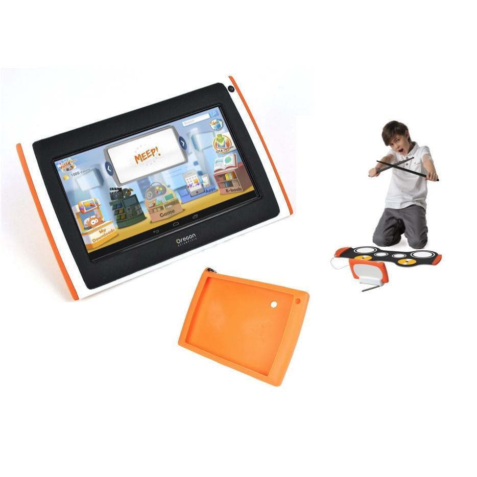 Tablette pour enfant Meepx2 Rose, Pack percussion (Batterie électronique, coque)