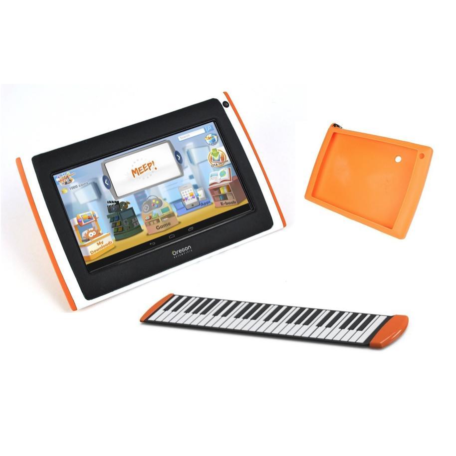 Tablette pour enfant Meepx2 violette, Pack Melody (Piano électronique + coque)