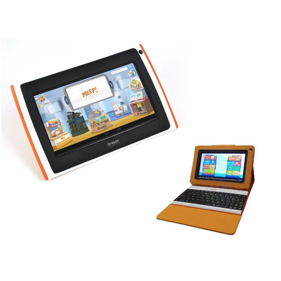 Pack Tablette pour enfant MEEPX2 rose (Clavier + pochette)