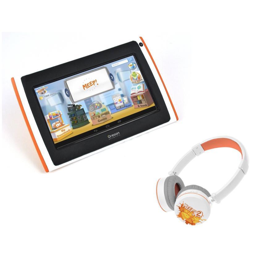 Pack Tablette MEEPX2 pour enfant violette (+ casque bluetooth)