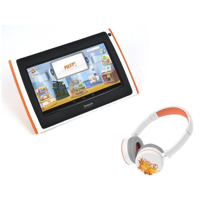 Pack Tablette MEEPX2 pour enfant rose (+ casque bluetooth)