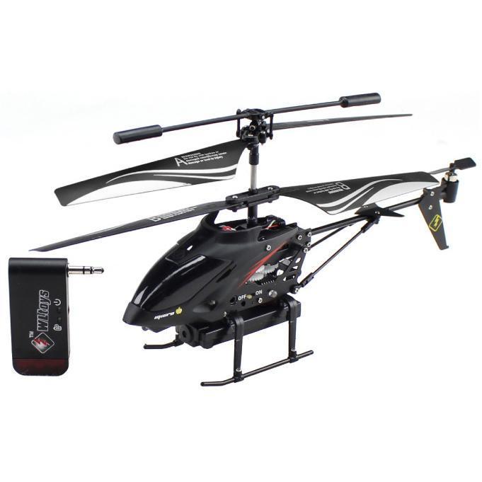 i-Hélicoptère Noir - Télécommandé pour appareils Apple et Android