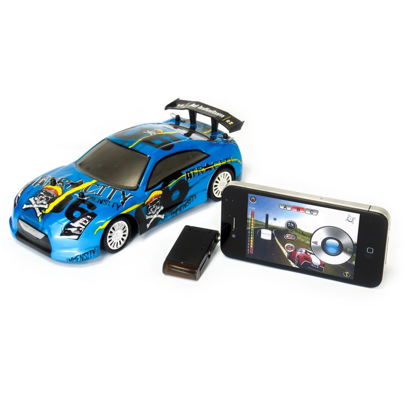 Voiture Bleue télécommandée pour appareils Apple et Android - M-Racer