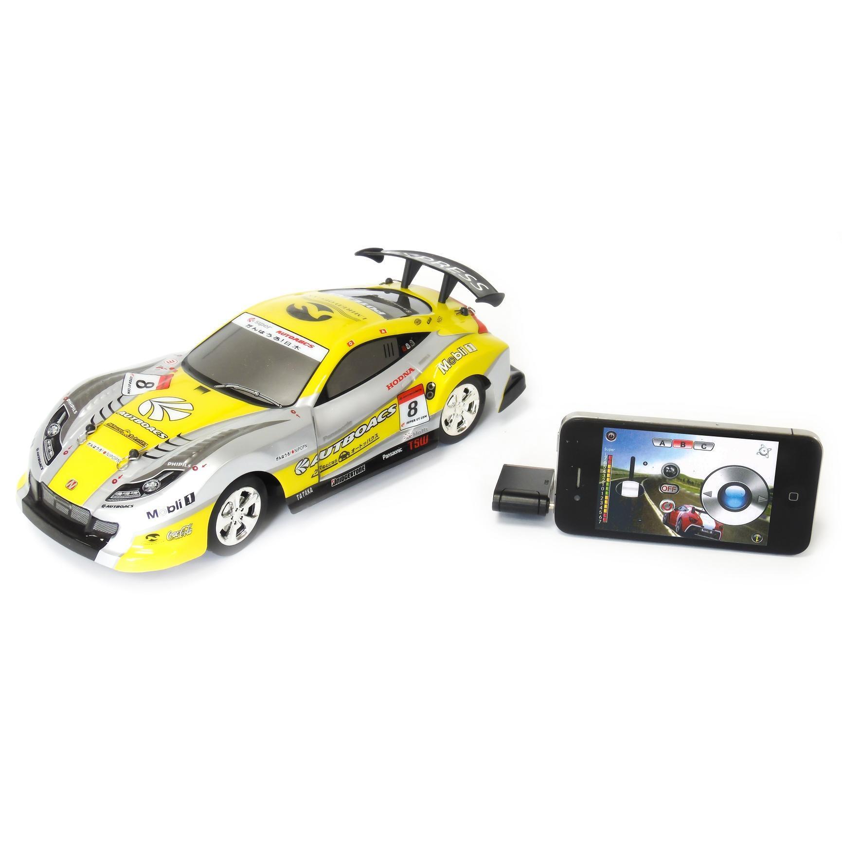 Voiture Jaune télécommandée pour appareils Apple et Android - M-Racer