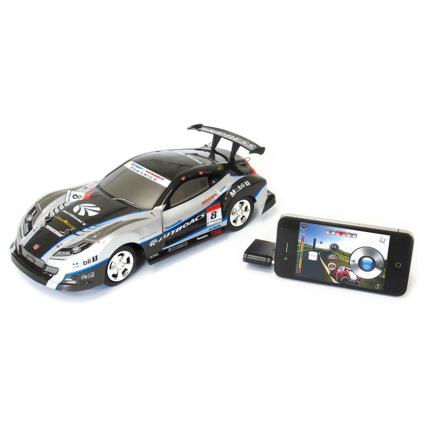 Voiture Noire télécommandée pour appareils Apple et Android - M-Racer