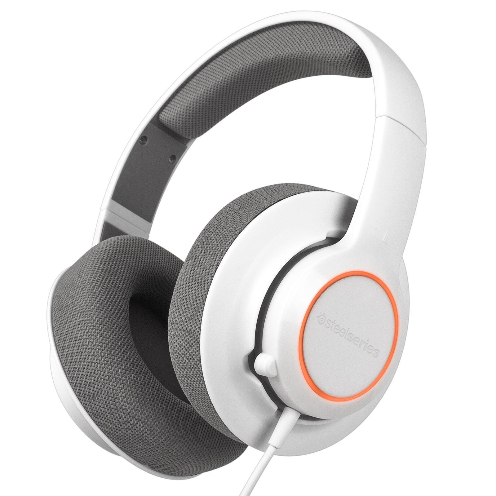 Casque SteelSeries Siberia Raw Prism - Blanc