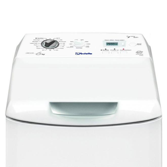 Lave-linge top 6kg - 40cm - Classe A+++ - 1300 trs/min -départ différé VLT6632