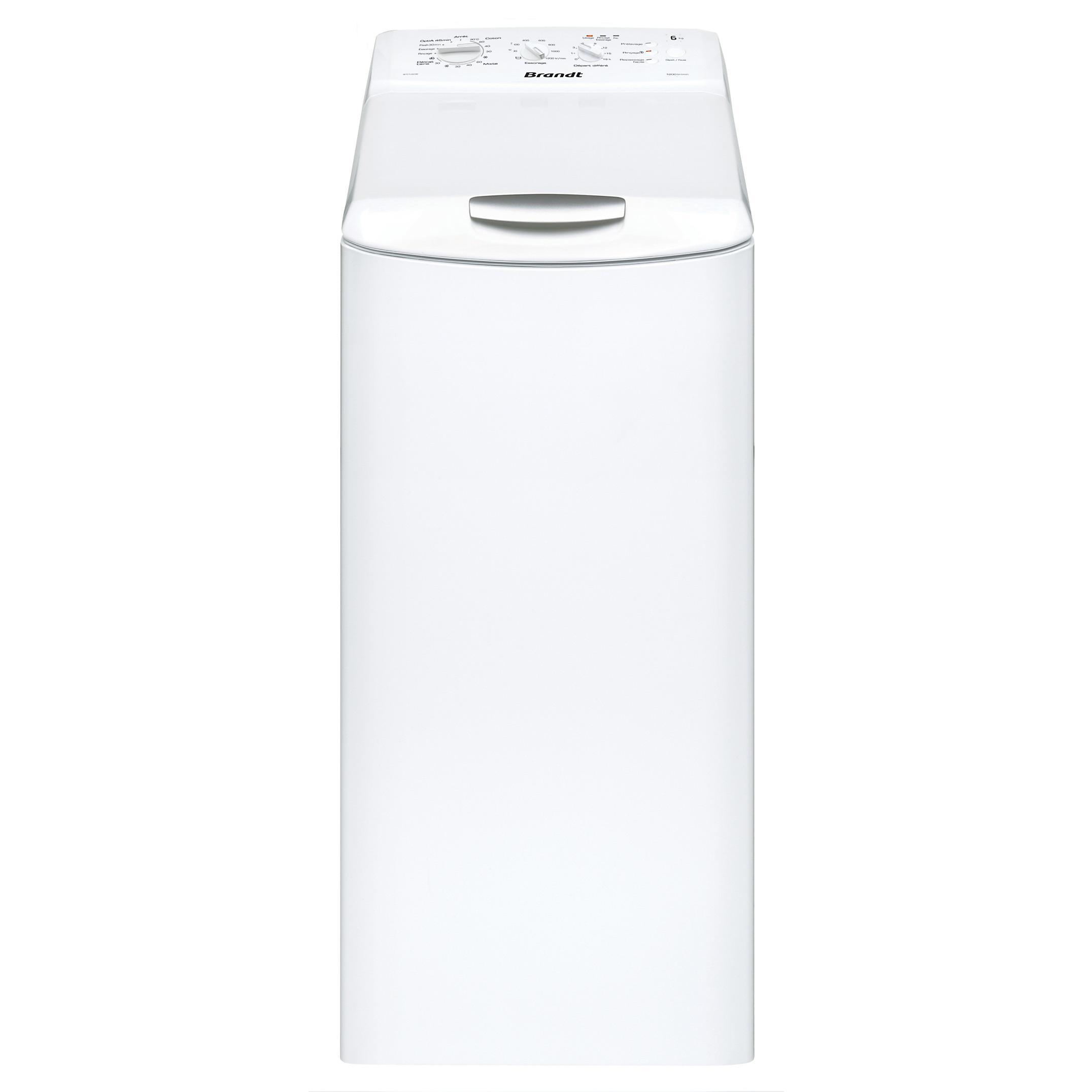 Lave-linge top 6kg - 40cm - Classe A+ - 1200 trs/min -départ différé WTC1260W