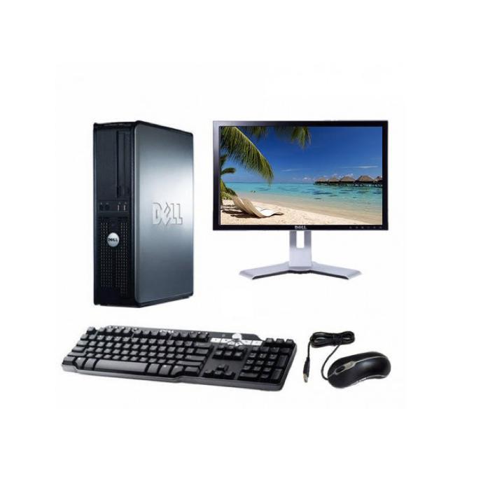 "Dell Optiplex 755 DT 19"" Intel Pentium D 2.2 GHz  - HDD 2 To - RAM 4 Go"