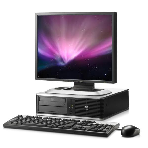 """HP Compaq DC7600 SFF 17"""" Intel Pentium 4 2.8 GHz  - HDD 500 Go - RAM 2 Go"""