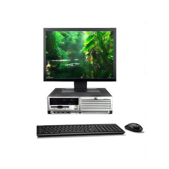 """HP DC7100 SFF 19"""" Intel Pentium 4 2.8 GHz  - HDD 500 Go - RAM 2 Go"""