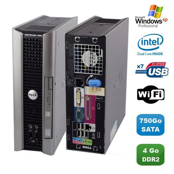 Dell Dell Optiplex 755 usff - Intel Pentium D 1.8 GHz - HDD 750 Go - RAM 4GB Go