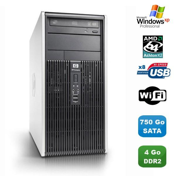 HP Compaq dc5850 MT  AMD Athlon 64 X2 2.6 GHz  - HDD 750 Go - RAM 4 Go