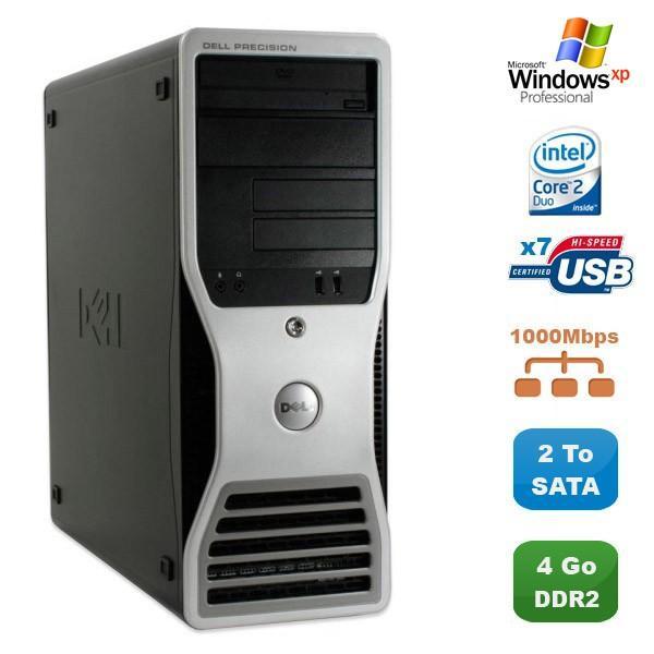 Dell Precision 390 - Intel Core 2 Duo 1.86 GHz - HDD 2000 Go - RAM 4GB Go