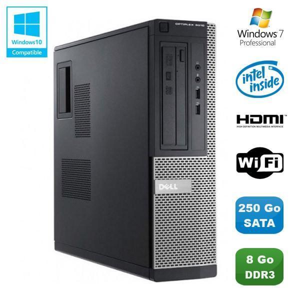Dell Optiplex 3010 DT  Intel Pentium G640 2.8 GHz GHz  - HDD 250 Go - RAM 8 Go