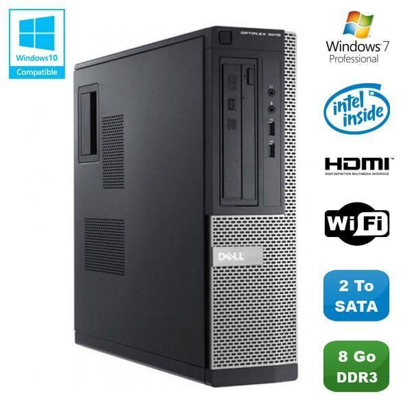 Dell Optiplex 3010 DT - Intel Pentium G640 2.8  GHz - HDD 2000  Go - RAM 8 Go Go