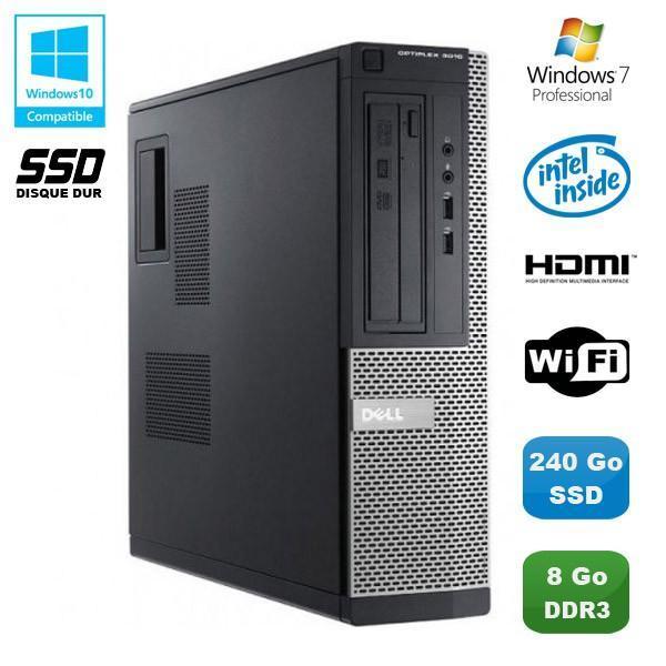 DELL Optiplex 3010 DT  Intel Pentium G640 2.8 GHz GHz  - SSD 240 Go - RAM 8 Go