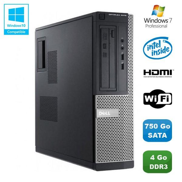 Dell Optiplex 3010 DT  Intel Pentium G 2.8 GHz  - HDD 750 Go - RAM 4 Go