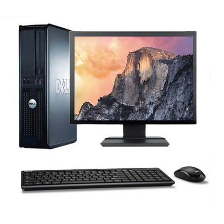 "DELL Optiplex 760 DT 19"" Intel Core 2 Duo 3 GHz  - SSD 240 Go - RAM 4 Go"